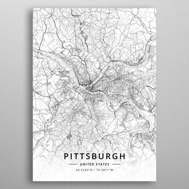 Pittsburgh, United States metal poster