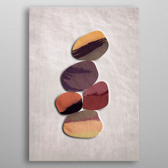 Abstract geometric minimalist design by R. Trickett. metal poster