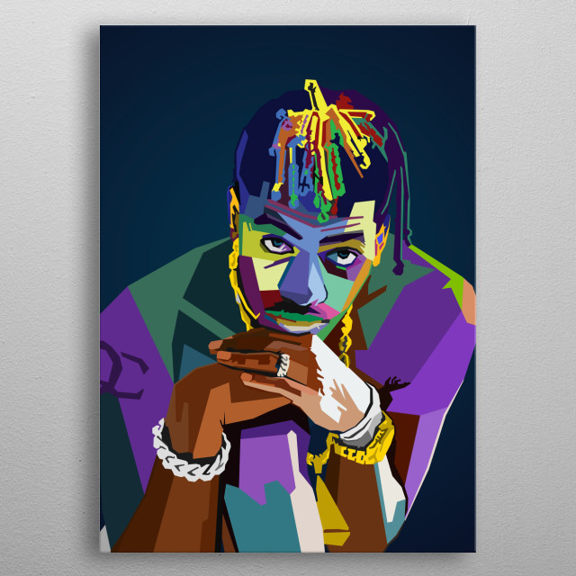 High-quality metal print from amazing Hiphop Rapper collection will bring unique style to your space and will show off your personality. metal poster