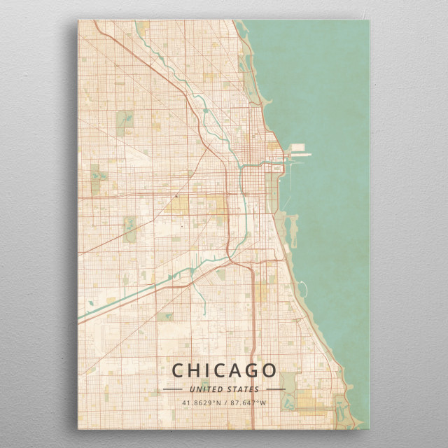 Chicago, United States metal poster