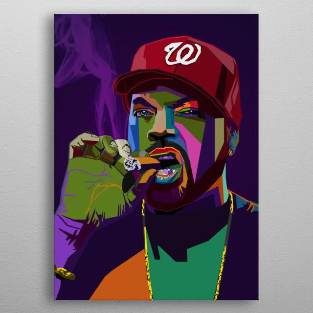 Ice Cube WPAP Pop Art metal poster