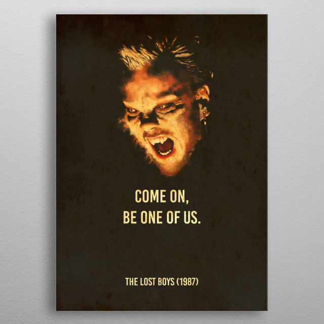 Come on, be one of us. Cult-Status movies fomr the 80s  metal poster