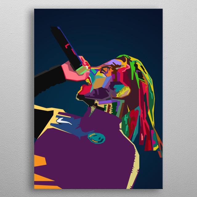 6ix9ine WPAP Pop Art metal poster
