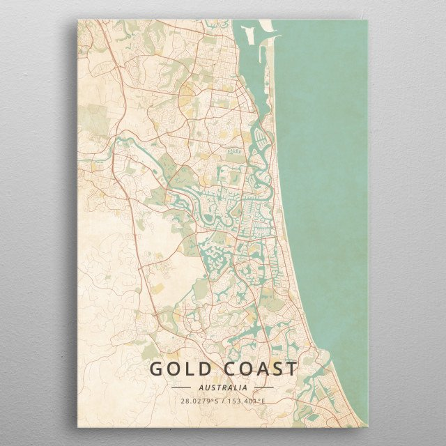 Gold Coast, Australia metal poster