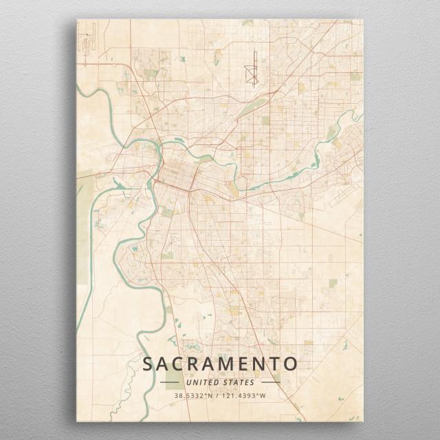 Sacramento, United States metal poster