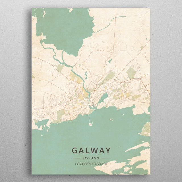 Galway, Ireland metal poster