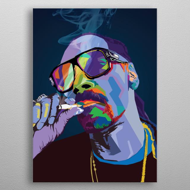 Snoop Dog WPAP Pop Art metal poster