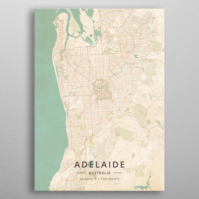 Adelaide, Australia metal poster