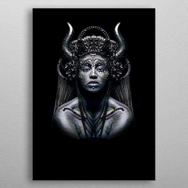 A Baroque Pop inspired Beyonce metal poster