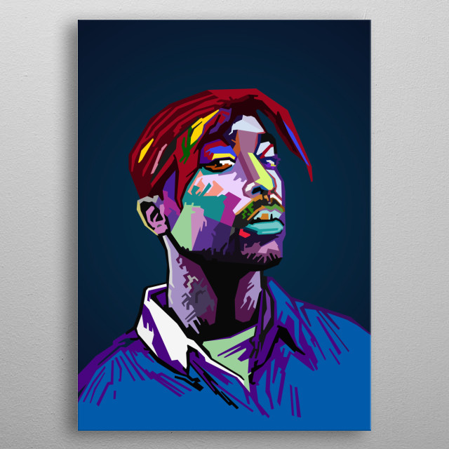 Tupac Shakur 2PAC WPAP Pop Art metal poster