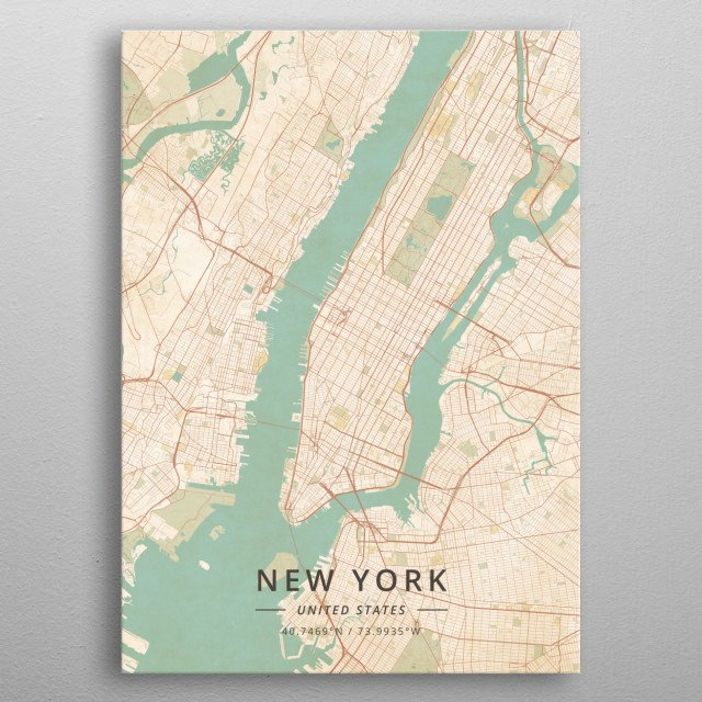 New York, United States metal poster