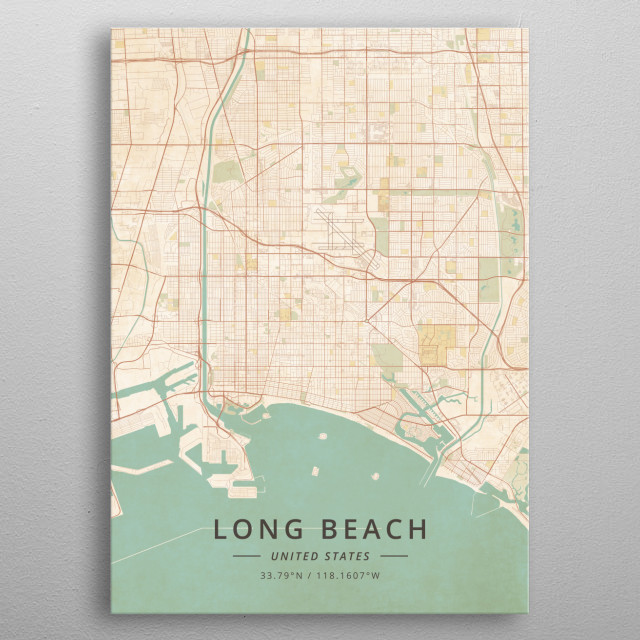 Long Beach, United States metal poster