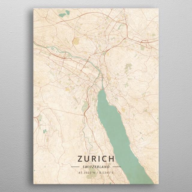 Zurich, Switzerland metal poster