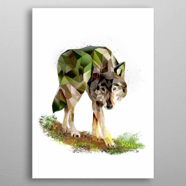 The nature of wolves metal poster