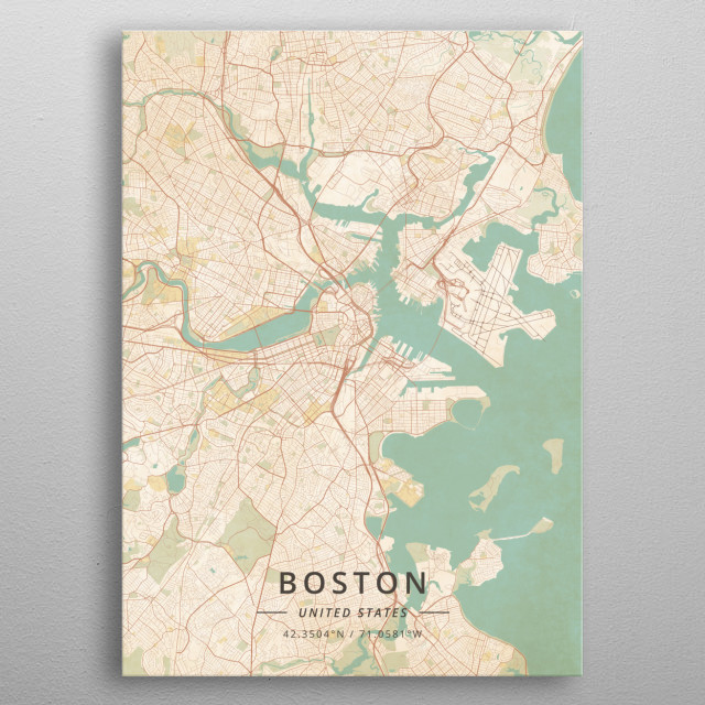 Boston, United States metal poster