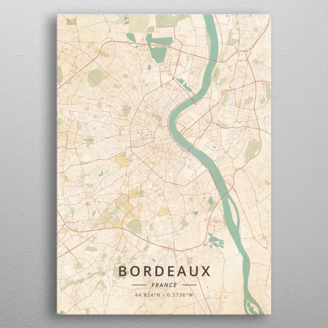 Bordeaux, France metal poster