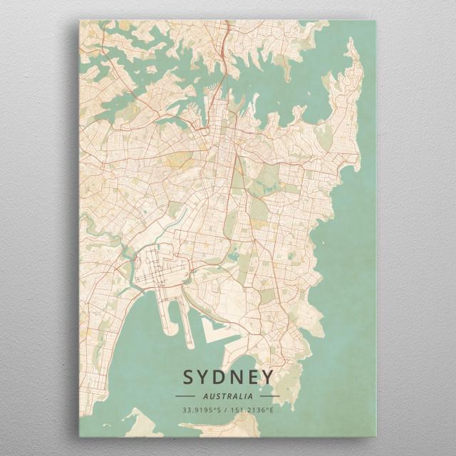 Sydney, Australia metal poster