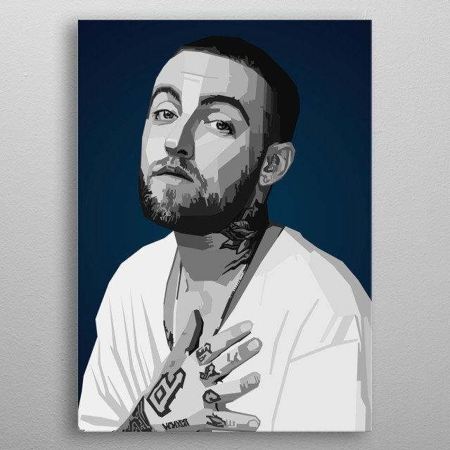 Mac Miller WPAP Pop Art metal poster