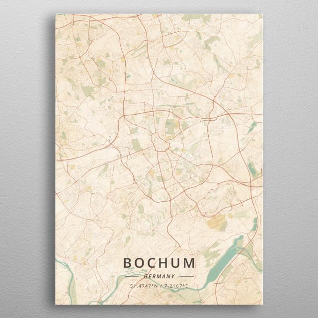 Bochum Germany By Designermap Art Metal Posters Displate