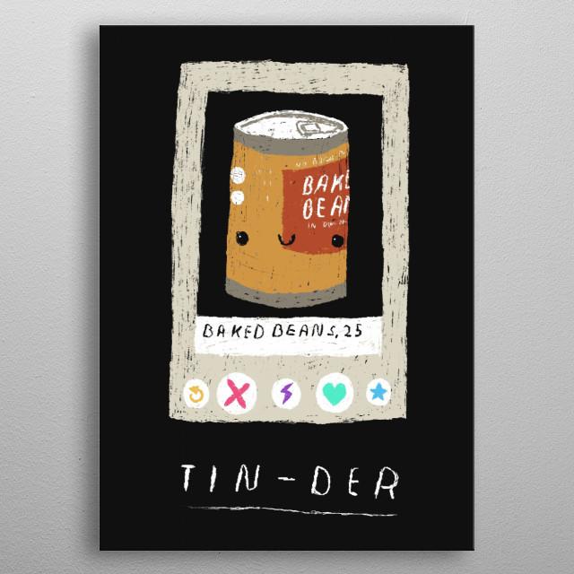 tin-der! metal poster