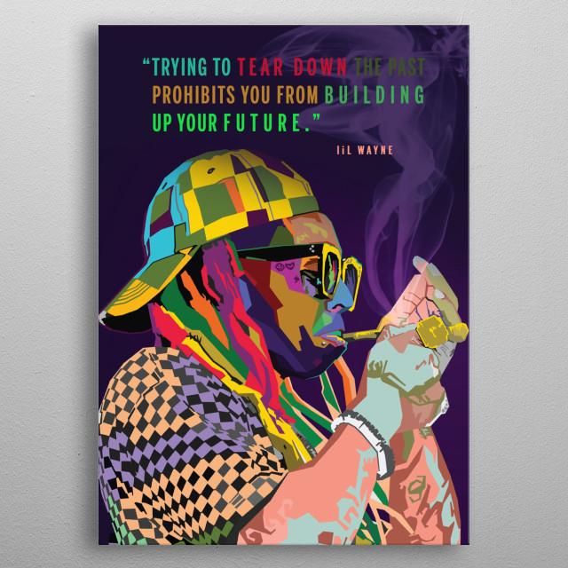 Lil Waney WPAP Pop Art metal poster