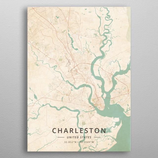 Charleston, United States metal poster