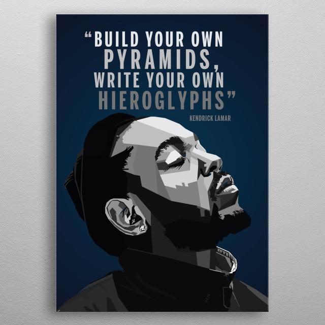 Kendrick Lamar WPAP Pop Art metal poster