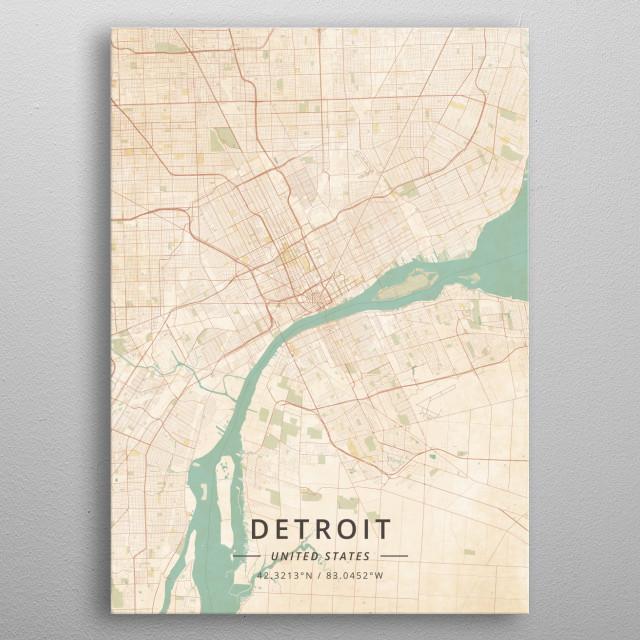 Detroit, United States metal poster