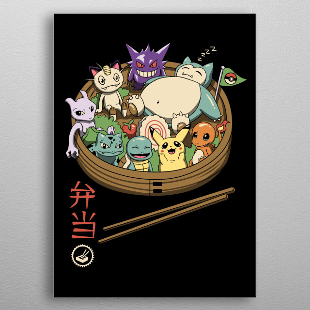 Cute bento pocket monsters. metal poster