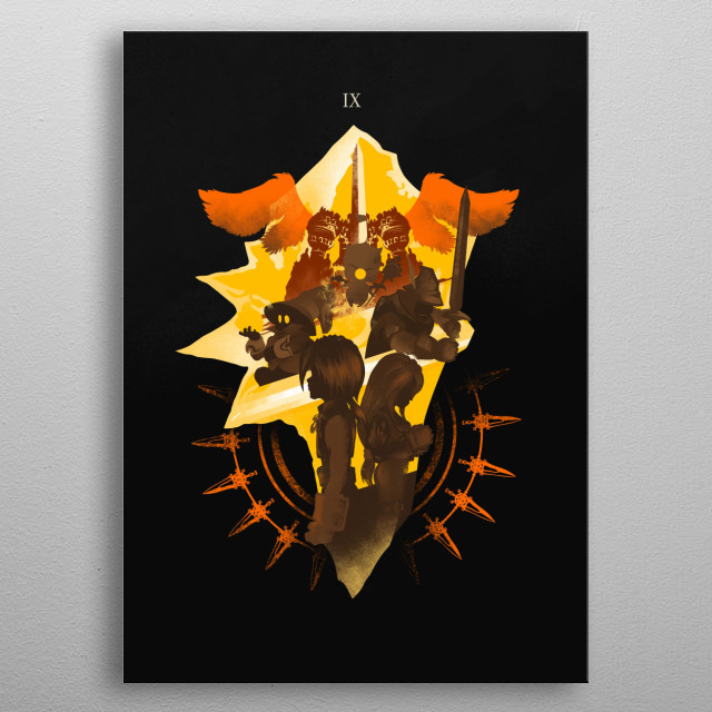 Inspired by my favorite game FF( metal poster