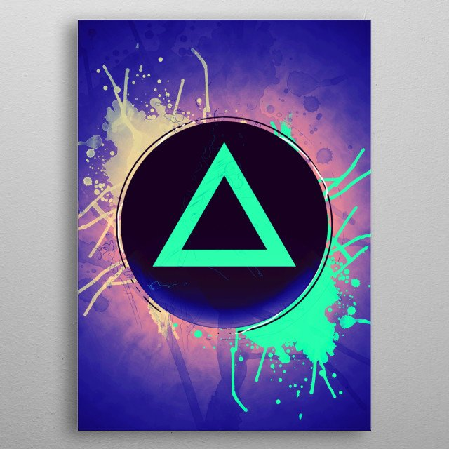 Triangle button of playstation metal poster