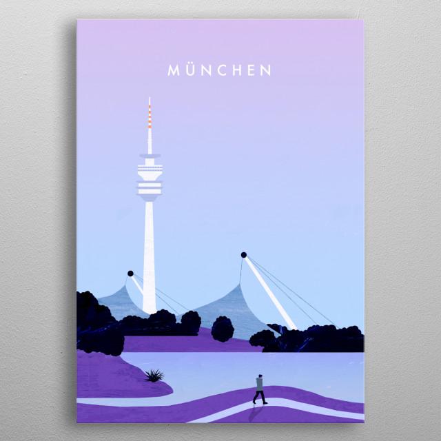 Illustration of Munich metal poster