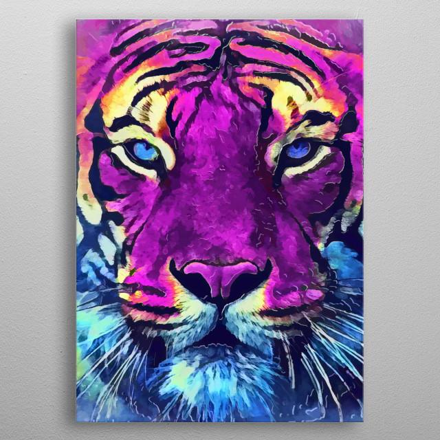 Tiger spirit metal poster