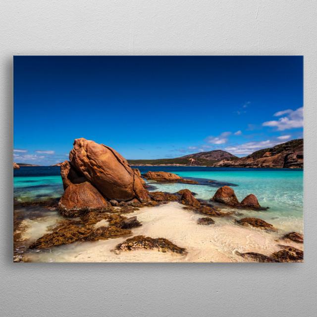 Little Hellfire Bay in the Cape Le Grand National Park near Esperance Western Australia metal poster