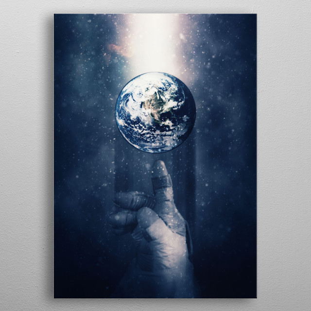 Global Warming - Humans activity pushing Earth towards extinction. metal poster