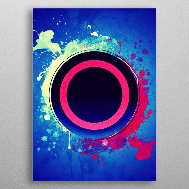 Circle Button of Playstation metal poster