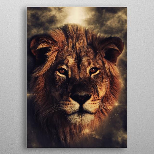 Lion metal poster