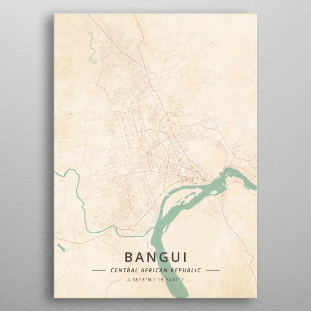 Bangui, Central African Republic metal poster