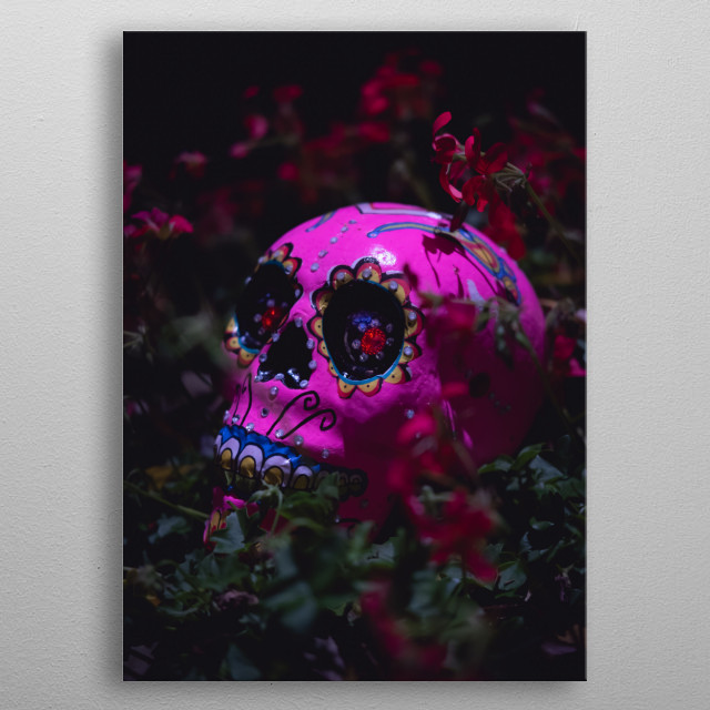 Day of the dead metal poster
