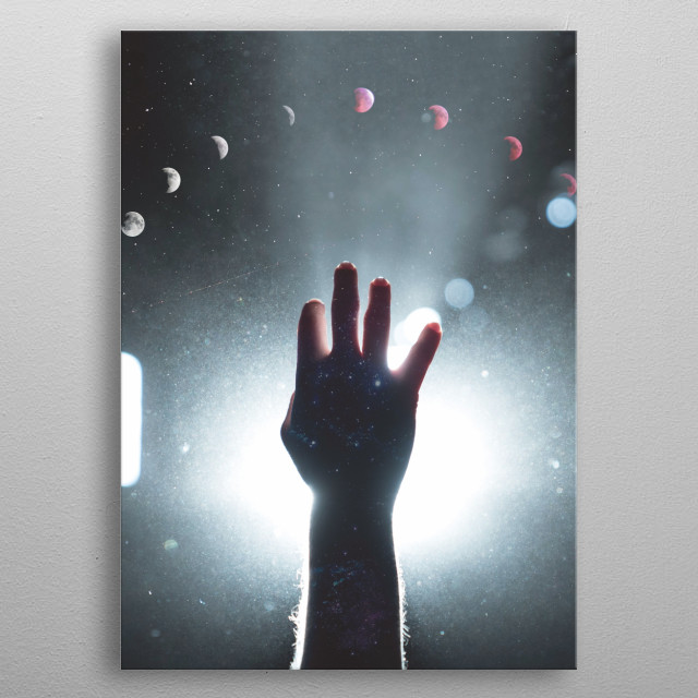 Reaching for your dreams Photo Manipulation metal poster