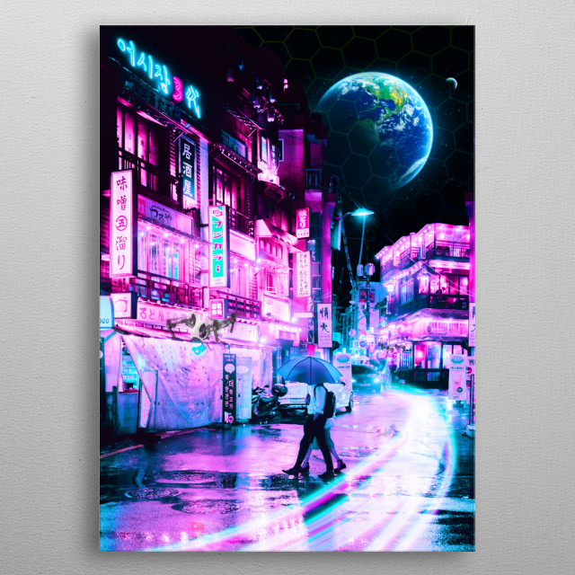 Tokyo 2077 - a collaboration work with Steven Roe. metal poster
