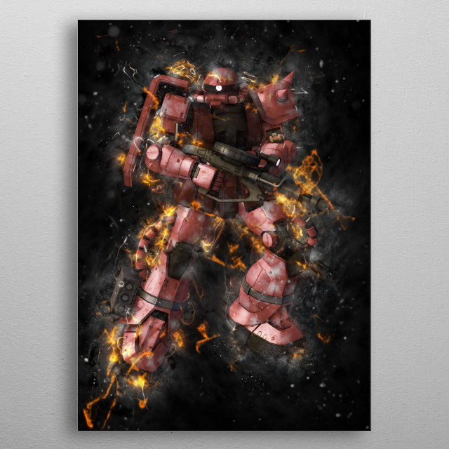 Stylized Mobile Suits! metal poster