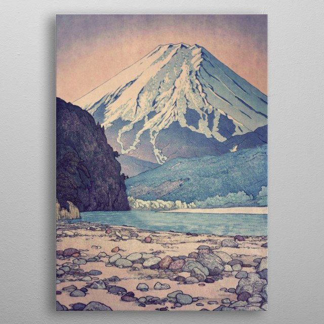 I am deeply inspired by the masters of Japanese Ukiyo-e painting, and mix drawing, painting and digital collage to mix, interpret and match  metal poster