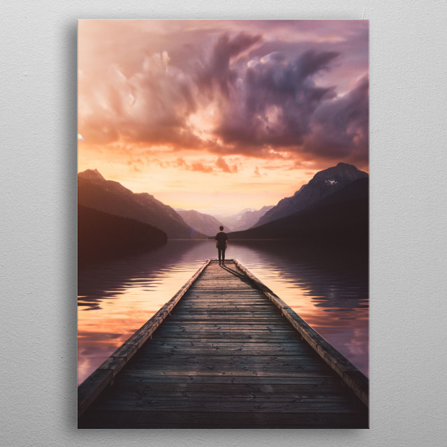 At the sound of nature. metal poster
