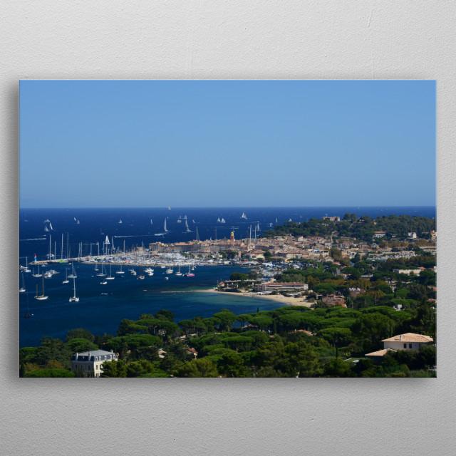 The village Saint-Tropez by Tom Vandenhende metal poster