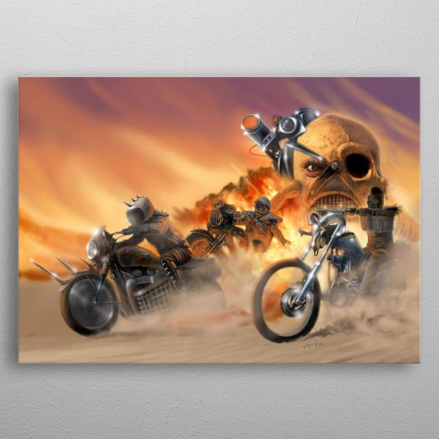 Road Warriors metal poster