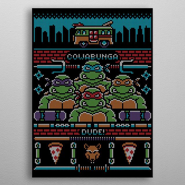 Turtle power! metal poster