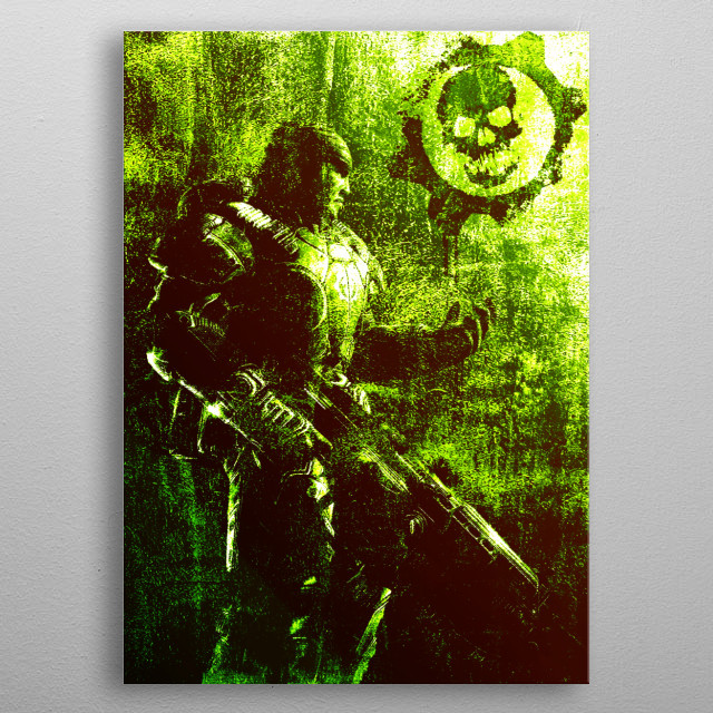 Video Game Character Poster  metal poster