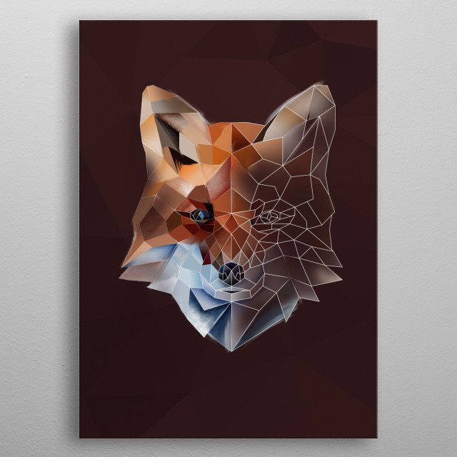 Lady Fox - modern animal collection metal poster