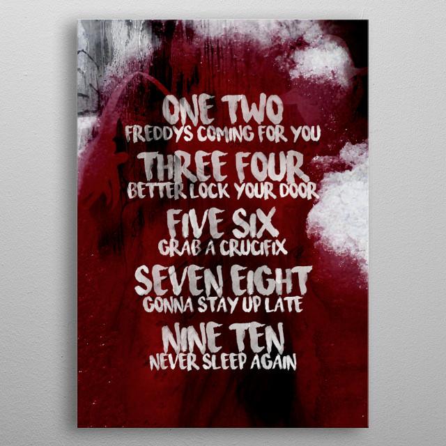 Elm Street metal poster